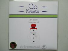 VGC Craft / Card Making Go Kreate Christmas Snowman #1 Die Cutter 110057