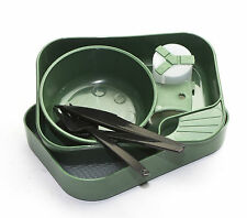 Camp-A-Box Camping Travel Plate  Fold-A-Cup Bowl Shaker Olive
