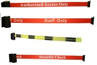 Auto Retract Security Belt Social Distancing Queue Barrier Strap Wall Fix 2.5m