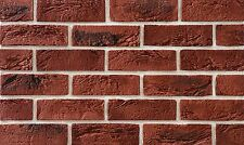Brick Slips Cladding Wall Tiles Flexible (pack of 52 ) 1 Sqm Classic LOOK Dark Red Black Point