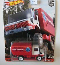 1988 Mercedes Unimog U1300  Paramedic Patrol **RR** Hot Wheels 1:64 NEU