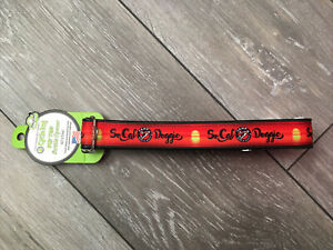 """Cycle Dog Adjustable Dog Collar 17""""-27"""" Neck Fit Bottle Opener So Cal Red Sunset"""
