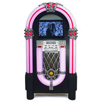 Jukebox 1950 Musikbox Bluetooth mp3 cd player Radiotuner USB Vintage Retro 7 LED