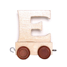 Childrens Personalised Wooden Alphabet Letter Train A-z Name Set All Letters E