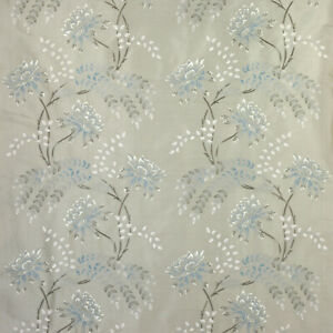 Water Lily Rose By Colefax & Fowler - Embroidered, Silk, Floral Fabric 4m Piece