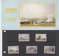 JERSEY PRESENTATION PACK 1987 CHRISTMAS ARTISTS J. LE CAPELAIN STAMP SET