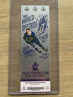 2016-17 Toronto Maple Leafs NHL Mint Ticket Stubs - Auston Matthews debut season
