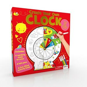 Create Your Own Clock. make your own clock kit. Colour The Background To Make