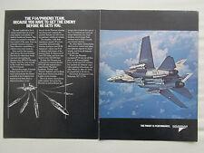 3/1981 PUB GRUMMAN AEROSPACE F-14 TOMCAT US NAVY SPARROW PHOENIX ORIGINAL AD