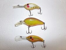 Vintage Lot of 3 Sparkling Rattle Crankbait Lure from Estate Sale,Nice Condition
