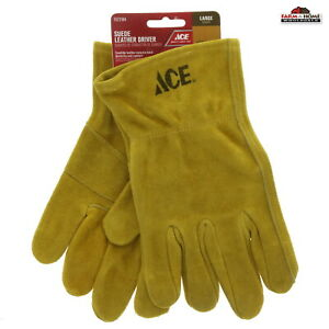 Large Suede Leather Work Driver Gloves ~ New