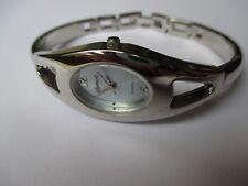 Ladies Chrome Ingersoll Quartz Bangle Watch light blue dial