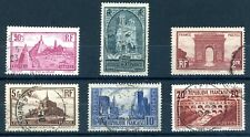 FRANCE 1929/33 TOURIST SERIES SET OF 6 (SG 470a-475/M258-62+290) FINE USED