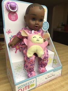 """Honestly Cute"" My Sleepy 14"" BabyAfrican American Doll Jakks Pacific Toy Co"