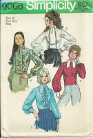 "S 9068 sewing pattern BLOUSE ""dog ear"" or tie collar elegant Jabot retro 1970 10"