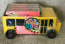 Childrens Little Yellow Wooden Bus and Audio Cassettes - Folk, Animal etc. Songs