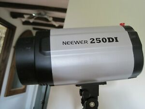 Pair of NEEWER 250DI Studio light/flash lighting modules with leads