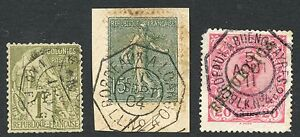 FRANCE COLONIES 1F + SOWER + PORTUGAL...MARITIME LIGHT PAQUEBOT OCTAGONS