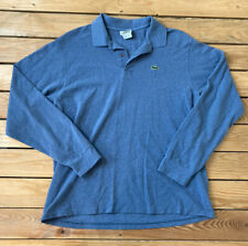 Lacoste Men's Long Sleeve Polo Shirt Size 6 In Blue X6