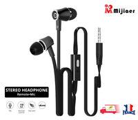Écouteur tressé intra-auriculaires Filaire Stéréo avec Microphone 3.5mm JM21