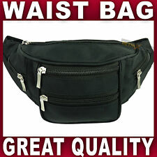 BLACK WAIST BAG bum bag waistbag bumbag fanny pack travel money running cycling