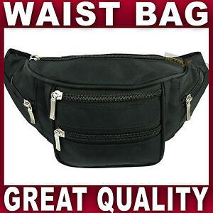 BLACK WAIST BAG bum bag waistbag bumbag fanny pack travel money running cycling