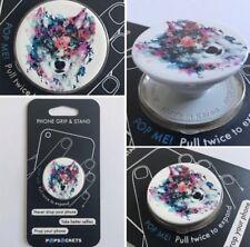 PopSockets Single Phone Grip PopSocket Universal Phone Holder 101445 WOLF