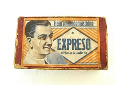 Vintage antique hand clipper / trimmer ESPRESO SOLINGEN original box Germany