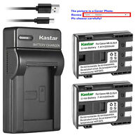 Kastar Battery Charger Canon NB-2L FVM200 HG10 HV20 Optura 30 40 50 60 400 500