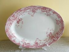 "Antique Grimwade Bros Stoke-on-Trent. Red ""Gipsy"" Large Oval Platter"