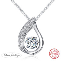 925 Solid Sterling Silver Wedding Bridal CZ Pendant Necklace Chain Jewellery Uk