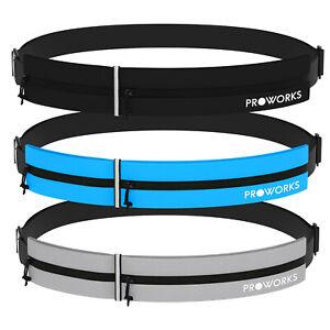 Proworks Sports Running Belt Bag with Adjustable Waist Strap & Storage Pouch