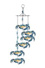 """18"""" BLUE CRAB WIND CHIME CAMPING BEACH COASTAL HOME OCEAN SAND VINTAGE JEWELRY"""