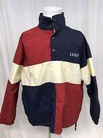 Vintage Izod Sport Pullover Windbreaker Jacket Men's Large Lightweight Nylon