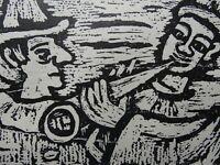 Friedrich VORDEMBERGE-GILDEWART (1899-1962) - Pierrots, Holzschnitt  ca. 1960