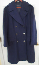 Vintage 50's USAF Air Force Blue Double Breasted Wool Coat -- Sz 37R