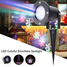6 LED Snowflake Stage Lights RGBW Spotlight Landscape Christmas Festival Party