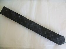 "Skinney 2"" Calvin Klein black plaid dress tie"