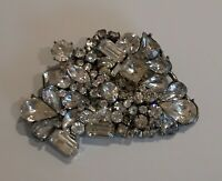 Vintage Early large Crystal costume Brooch