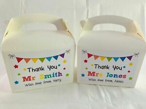 Personalised Thank You Teacher End Of Term Present Bag Gift Box