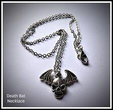 Death Bat Skull Necklace,Wings,Horror,Halloween,Skeleton,Gift Idea,Unisex