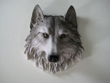 Wolves Head WALL MOUNT DECORATION LODGE CABIN LOG