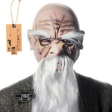 White Beard Old Man Latex Halloween Mask Fancy Party Costume Cosplay Scary Dress