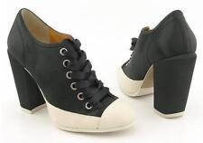 New HALE BOB Women Satin Heel Lace Up Dress Comfort Ankle Pump Bootie Shoe Sz 8