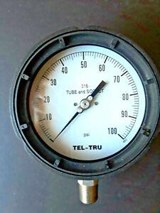 "4 1/2"" Process Pressure Gauge  100 #"