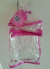 NEW Superdrug clear cosmetic bag - Fits x3 Bodysprays