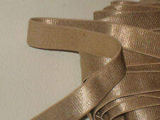 "6 yards 3/8"" width LT bronze gold color elastic ribbon trim/stretch ribbon trim"