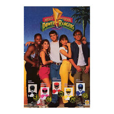 Vintage 1993 MIGHTY MORPHIN POWER RANGERS Saban #329 MMPR Poster New Sealed