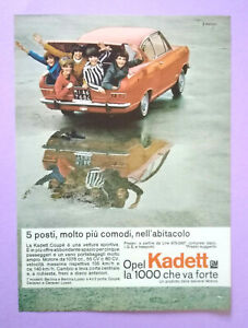 Pubblicita'Advertising Werbung Vintage OPEL KADETT COUPE' automobile 1966 (B2)