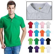 Mens Short Sleeve Polo-Shirt Casual Cotton Top Sport Tee T-shirt XS S M L XL AU